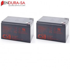 Endura 12Amp/h - 12V Wheelchair Battery Set (Lead Acid)